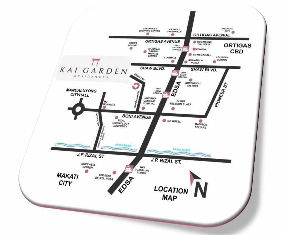 Location Map of KAI Garden Residences