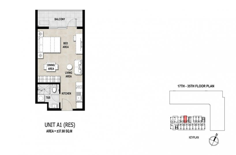 La Vida Studio Floor plan